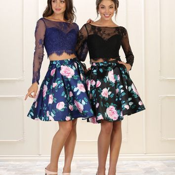 Short Prom Dress Formal Two Piece