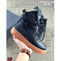 Nike Air Force 1 SF AF1 New Popular Women Men High Top Running Sport Shoes Sneakers 5# Black I-AA-SDDSL-KHZHXMKH