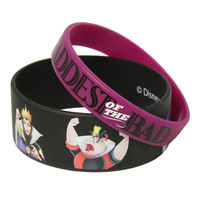 Disney Villains Baddest Of The Bad Rubber Bracelet 2 Pack