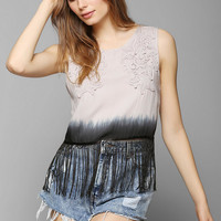 Staring At Stars Fringe Tie-Dye Tank Top - Urban Outfitters