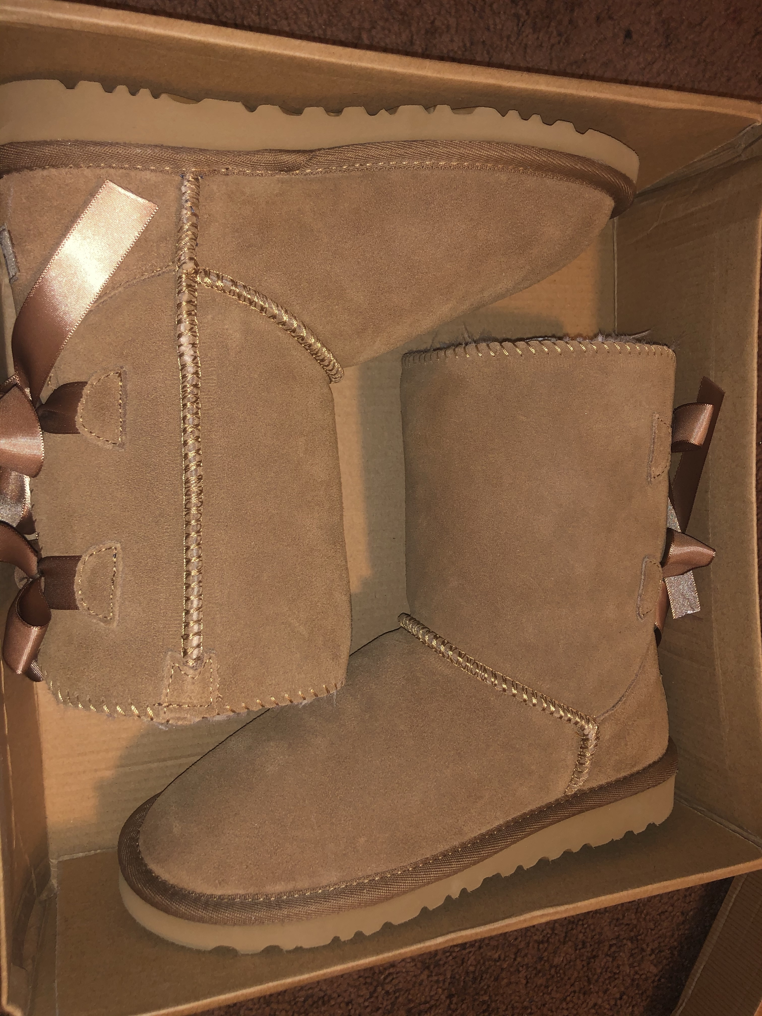 Ugg Bow Leather Boots Boots In Tube From Simpleclothesv